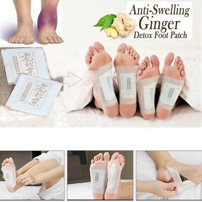 50 Pcs Anti-Inflammation Sweilling Ginger Foot Patches Organic Herbal Detox Pads