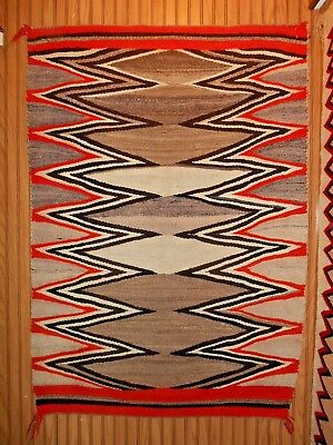 Old Navajo Navaho Indian Rug/Weaving....Concentric Zigzag Lines...GOOD Cond...NR