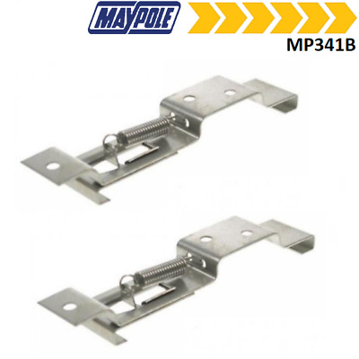 X2 Trailer Number Plate Clip / Holder Spring Loaded Stainless Steel MP341B