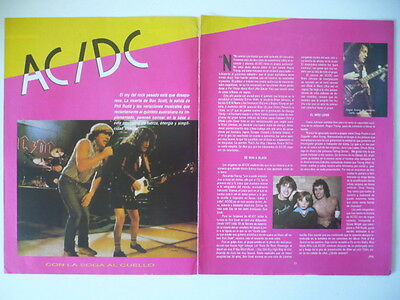 AC/DC LOT 12 ORIGINAL CLIPPINGS CUTTINGS 80's 90's 00's L@@K