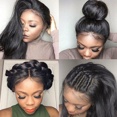 HOT 360 Lace Frontal Wig Glueless Per Plucked Brazilian Virgin Human Hair Full P