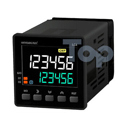 Hanyoung Nux LCD Counter Timer LC4-P61CA 48x48mm 6 digits 1-stage output RS485
