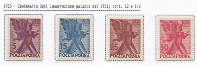 1930 POLONIA/POLEN/POLAND/POLSKA, n° 265/268 set of 4 MNH/**