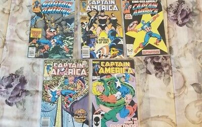 Lot of (5) Captain America~Marvel Comics# 248 310, 392, 395 king size annual 5