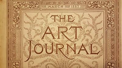 The Art Journal Magazine March 1887 Antique Magazine Engravings Sketches, ETC
