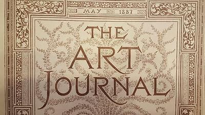 The Art Journal Magazine May 1887 Antique Magazine Engravings Sketches, ETC