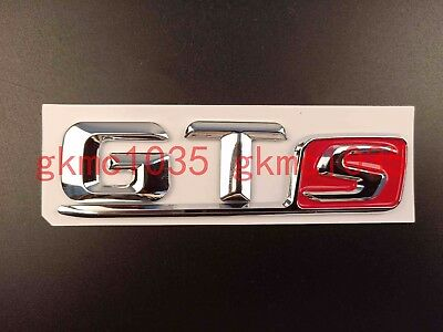 new chrome gts letters trunk badge emblem decal sticker for mercedes benz amg