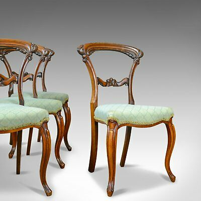 Antique Set of Four Dining Chairs, English, William IV, Rosewood, Circa 1835