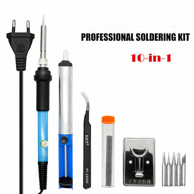 Kit  Electronique Fer à Souder Dessouder soudure Soudage 220V  60W