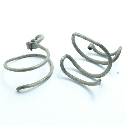 ANCIENT SILVER VIKING WIRE EARRINGS,Temple ring, Hair ring (04)