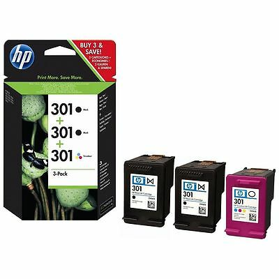 HP 301 2x Black & Colour Ink Cartridge Combo - FREE & FAST Delivery