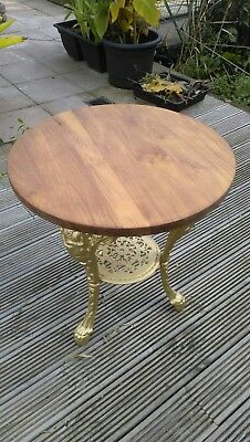 britannia table with upcycled oak top