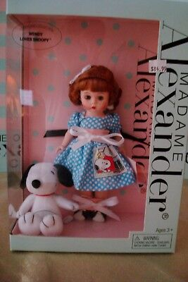 "Madame Alexander 8"" Wendy Loves Snoopy #48975 Nrfb Original Box & Tag 2008"
