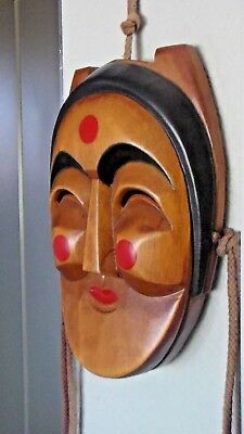 Beautiful Condition, Wooden Korean Noh Theater Art Mask