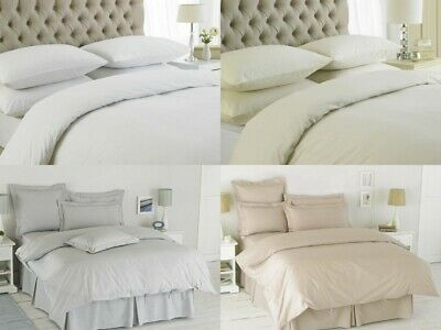 EasyCare 50/50 Poly Cotton Hotel Quality Duvet Cover Quilt Bedding Sets All Size