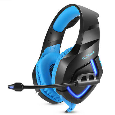 ONIKUMA K1 Gaming Headset Stereo Bass Surround Headphones For PC with Mic 1PCS