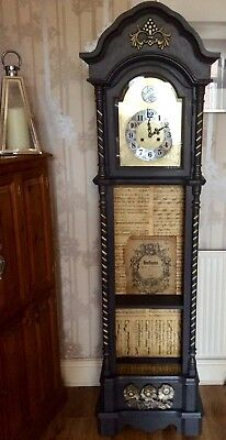 Grandfather Clock Shabby Chic With Shelf .