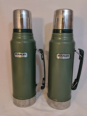 Vintage Stanley 1 Liter 1.1Qt Stainless Steel Thermos Lot of 2 with Handles