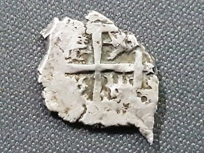 Potosi - Silver Cob - 1/2 Real - King Philippus V - Pirate And Colonial Coin -