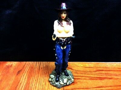 Western Cowgirl with a Six Shooter ~ Statue ~ Figurine ~ FREE Shipping