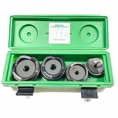 "Greenlee 7304 Knockout Punch & Die Set, 2.5, 3, 3.5 & 4"" Conduit Sizes"