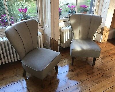 Matching Pair Of Original mid Century Cocktail Chairs