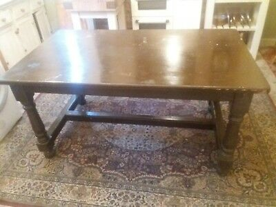 Solid Antique Pine Country House Refrectory Kitchen Table
