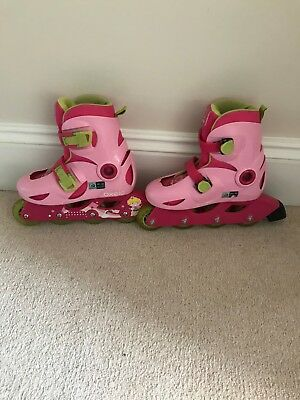 Girls pink Oxelo skates - Adjustable - Size Uk 11.5 - 13