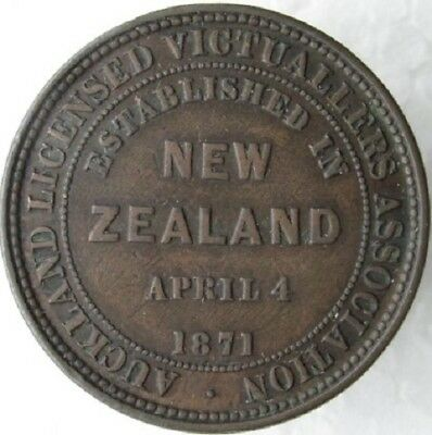 New Zealand Penny Token Auckland Licensed Victuallers Association A326, L304a F