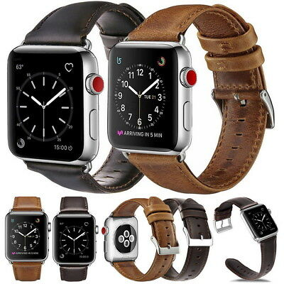 Apple Watch Genuine Leather Strap Wrist Band Series 4 3 2 1 42mm 44mm iWatch UK