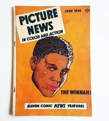 RARE 1946 PICTURE NEWS COMIC BOOK Vol 1 No 6 THE WINNAH JOE LOUIS Boxing Vintage