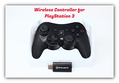 NEW Power A PS3 Wireless Gaming Black Controller for PlayStation 3 - 1427441