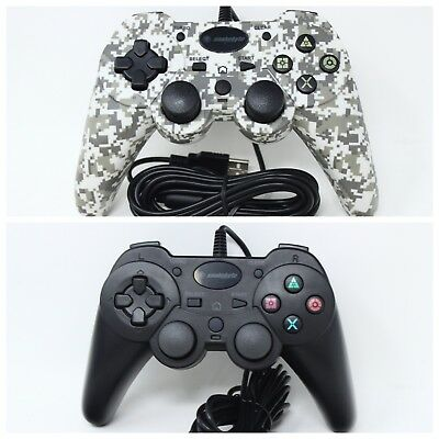 NEW Snakebyte PS3 USB Wired Game Controller for PlayStation 3 White Camo / Black