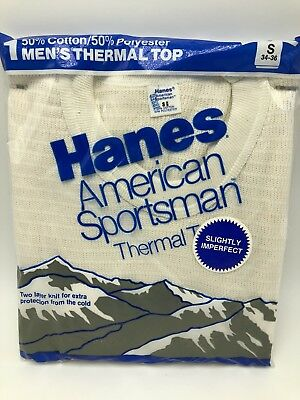 Vintage 1987 Hanes American Sportsman Thermal Top Shirt Mens Small
