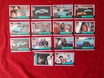 Set Of Country Star Racing Trading Cards Tracks 1992