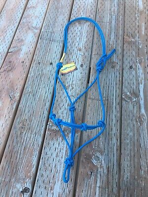 Clinton Anderson *New* Blue *4 Knot Rope Halter* Average Size*