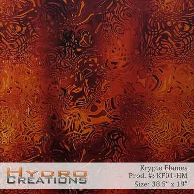 "HYDROGRAPHIC FILM HYDRO DIPPING WATER TRANSFER FILM KRYPTO FLAMES - 38.5"" x 19"""