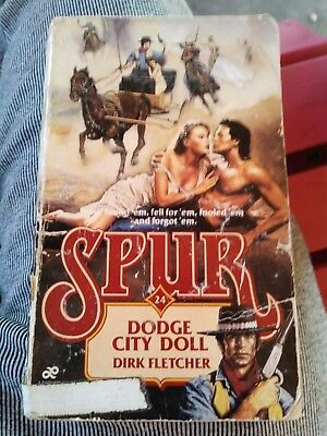 #24 Dodge City Doll Spur Dirk Fletcher 1988 first edition Paperback book western