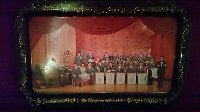 Vintage Lawrence Welk The Champagne Musicmakers Tin Advertising Tray