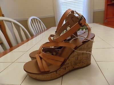 727d630635 WOMEN'S ERIE WOOD Flatform Wedge Sandals Mossimo Supply Co - $32.24 ...