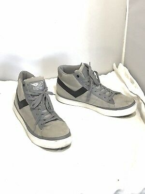 on sale 25a3d bf007 Pony Mens Grey Hightop Sneakers Shoes Sz 12