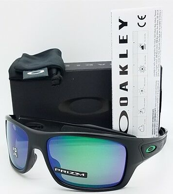 NEW Oakley Turbine sunglasses Matte Black Prizm Jade Polarized 9263-45  AUTHENTIC 7d5d9428895a