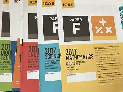 ICAS Past Papers Paper F Year 8 all subjects including 2018 -  47 papers total