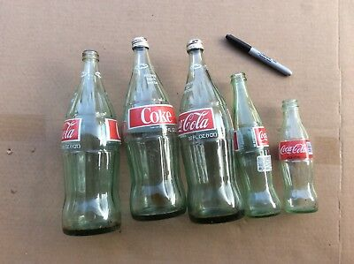 Coke Coca Cola 32 Ounce Glass Large Bottle 1973 Returnable Red Label Old Classic