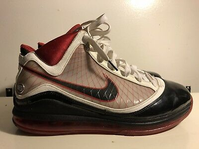 new concept 907cf bd39a NIKE AIR MAX LEBRON VII 7 BRED 375664-102 Size 11 M WHITE BLACK RED