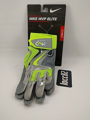 Nike MVP Elite Adult Batting Glove size S Small GB0401-017 Grey Volt baseball