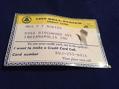1959 Bell System Credi Card