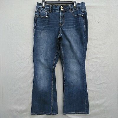 Lane Bryant High Rise Boot Womens Jeans Plus Sz 14 Tighter Tummy Technology