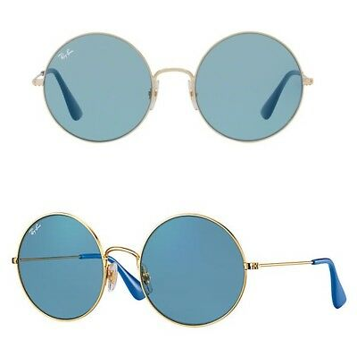 11f2af26f99 NEW Rayban Ja-Jo Sunglasses RB3592 001 F7 50mm Gold Light Blue Round 3592