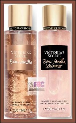 Victoria's Secret New! BARE VANILLA & Holiday Shimmer Fragrance Mists 2 x 250ml
